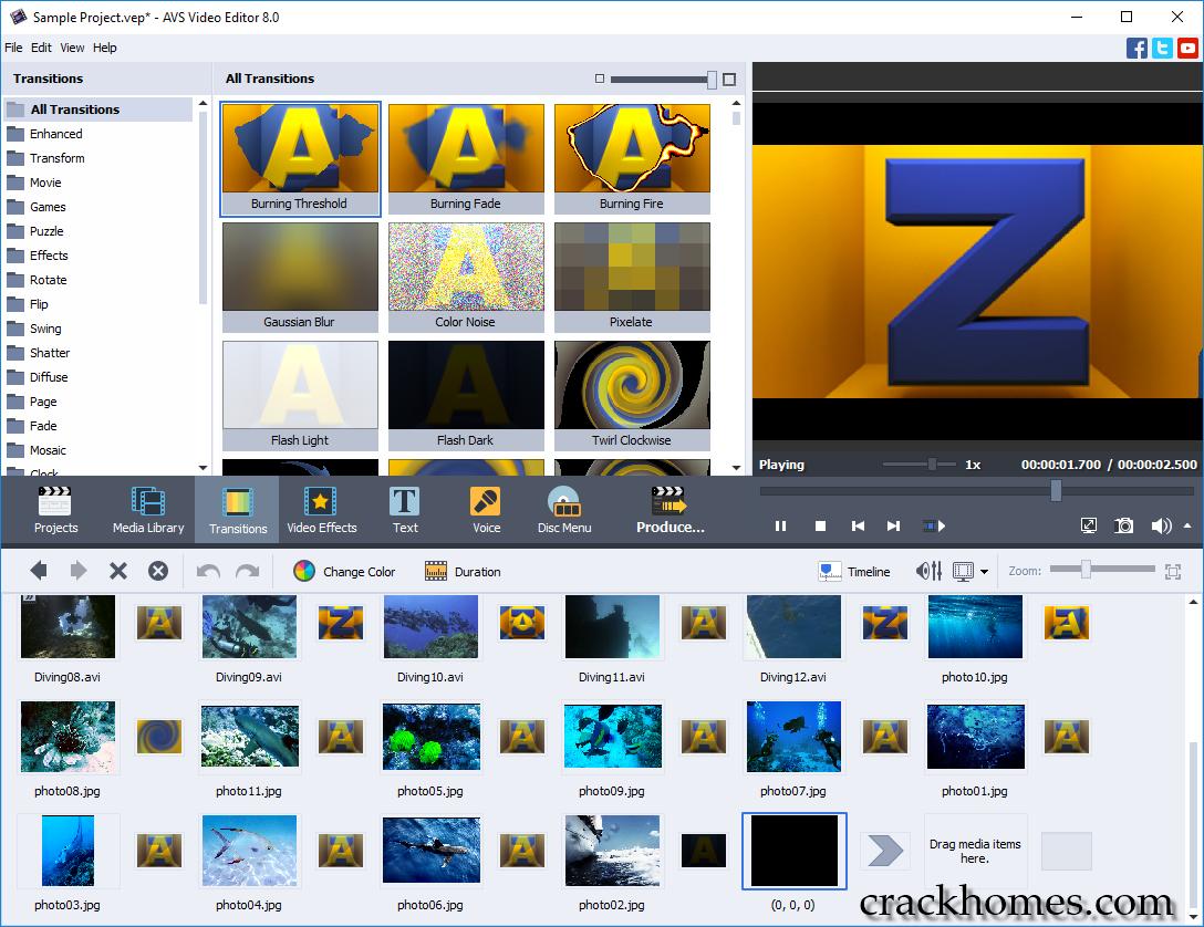 AVS Video Editor Crack 8.0.4.305 + Activation Key