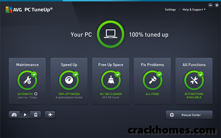 AVG PC TuneUp 2019 Crack Plus Keygen Full Version