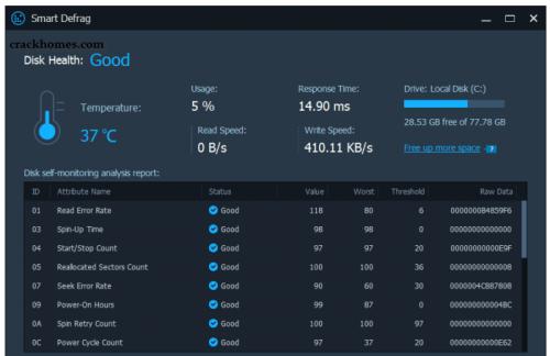 IObit Smart Defrag Pro Serial Key + Full Crack Free Download