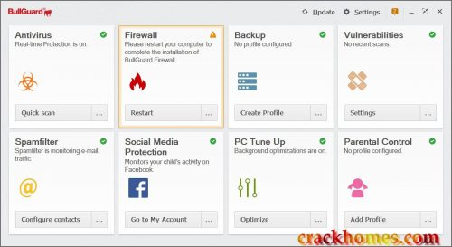 BullGuard Antivirus 2019 Crack v19.0.355.4 License Key [ Latest ]