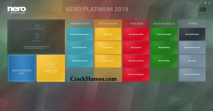 Nero Platinum 2019 Crack with Serial Key Full Download {Latest}